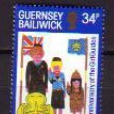 Sellos: GUERNESEY. 324 75º ANIVERSARIO DEL MOVIMIENTO SCOUT FEMENINO**. 1985. Lote 43144825