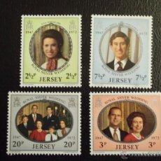 Timbres: JERSEY. 67/70 BODAS DE PLATA**. 1972. SELLOS NUEVOS Y NUMERACIÓN YVERT.. Lote 43158055