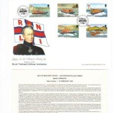Sellos: ISLA DE MAN SOBRE PRIMER DIA COMPLETO 1991 SPD. Lote 43593317