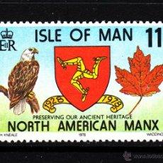 Sellos: MAN 129** - AÑO 1978 - 50º ANIVERSARIO DE LA SOCIEDAD NORT AMERICA MANX - FAUNA - AVES. Lote 43687843