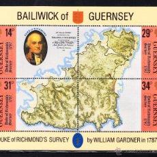 Sellos: GUERNSEY HB 7** - AÑO 1987 - BICENTENARIO DEL PRIMER MAPA DE LA ISLA. Lote 45266397