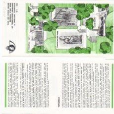 Sellos: BELGICA SERIE CONMEMORATIVA EN HOJA PRIMER DIA 1981 VER DETALLE. Lote 43791370