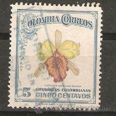Sellos: LOTE P-SELLOS SELLO COLOMBIA FLOR ORQUIDEA. Lote 180179355