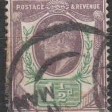 Sellos: GRAN BRETAÑA. 1902-1910. IVERT # 108 * .MH .. Lote 47495545