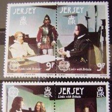 Sellos: JERSEY - IVERT 213/16 SELLOS NUEVOS (**) - EUROPA CEPT 1980 - PERSONAJES CELEBRES. Lote 48443635