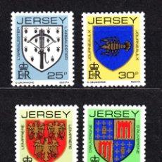 Sellos: JERSEY 267/70** - AÑO 1982 - ESCUDOS DE FAMILIAS DE JERSEY. Lote 48473658