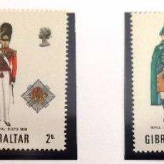 Sellos: SELLOS GIBRALTAR 1969. NUEVOS. UNIFORMES MILITARES.. Lote 48703001
