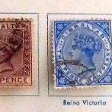 Sellos: SELLOS GIBRALTAR 1886. USADOS CON CHARNELA.. Lote 48827833