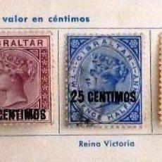 Sellos: SELLOS GIBRALTAR 1889. SELLOS DE 1886 SOBRECARGADOS. CON CHARNELA.. Lote 48827886