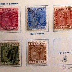 Sellos: SELLOS GIBRALTAR 1889. CON CHARNELA. TRES USADOS.. Lote 48827912
