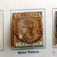 Sellos: SELLOS GIBRALTAR 1895. CON CHARNELA. DOS USADOS.. Lote 48827972