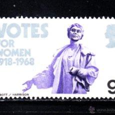 Sellos: GRAN BRETAÑA 511** - AÑO 1968 - 50º ANIVERSARIO DEL VOTO FEMENINO. Lote 278426968
