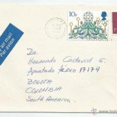 Sellos: 1980 - CARTA DIRIGIDA DESDE LONDRES A BOGOTA - INGLATERRA. Lote 50144845