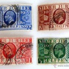 Sellos: SELLOS GRAN BRETAÑA 1935. USADOS. VER FOTO ADICIONAL. Lote 104130012