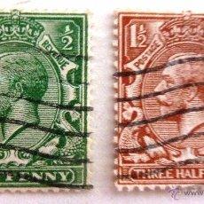 Sellos: SELLOS GRAN BRETAÑA 1912-1922. USADOS CON CHARNELA.. Lote 51387651