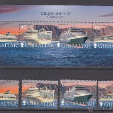 Sellos: GIBRALTAR 1289/92, HB 87 SIN CHARNELA, BARCO DE CRUCEROS. Lote 51578219