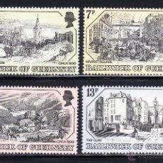 Sellos: GUERNSEY 152/55** - AÑO 1978 - PARTE - GRABADOS ANTIGUOS DE GUERNSEY. Lote 54238106