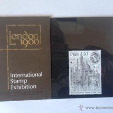 Sellos: GRAN BRETAÑA. INTERNATIONAL STAMP EXHIBITION 1980. Lote 54777205