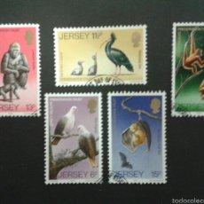 Sellos: SELLOS DE JERSEY (GRAN BRETAÑA). FAUNA. YVERT 201/05. SERIE COMPLETA USADA.. Lote 55109989