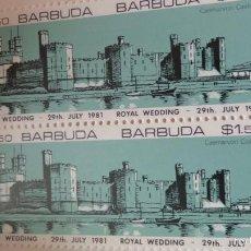 Sellos: BARBUDA CARNET CON BLOQUES DE SELLOS BODA PRINCIPE CARLOS Y LA PRINCESA LADY DIANA- CASTILLO PALACIO. Lote 55120299