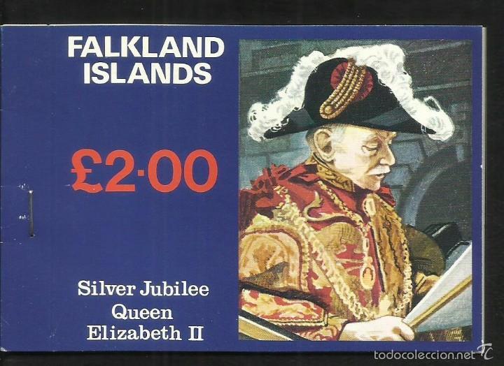 FALKLAND ISLANDS 25º AÑOS CORONACION REINA ELIZABETH II CARNET DE LUJO CON BLOQUES DE SELLOS (Sellos - Extranjero - Europa - Gran Bretaña)
