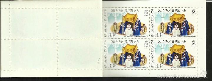 Sellos: FALKLAND ISLANDS 25º AÑOS CORONACION REINA ELIZABETH II CARNET DE LUJO CON BLOQUES DE SELLOS - Foto 3 - 55121460