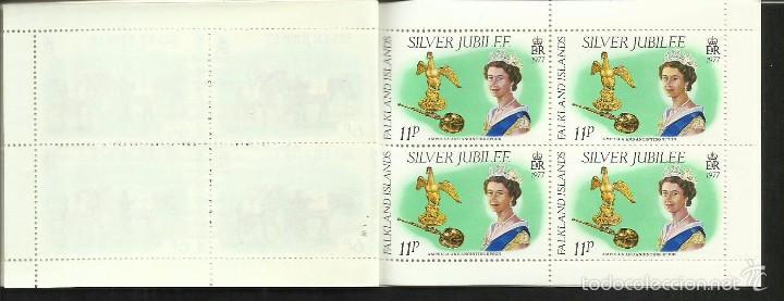 Sellos: FALKLAND ISLANDS 25º AÑOS CORONACION REINA ELIZABETH II CARNET DE LUJO CON BLOQUES DE SELLOS - Foto 4 - 55121460