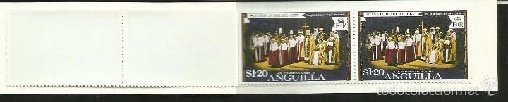 Sellos: ANGUILLA 25º AÑOS CORONACION REINA ELIZABETH II CARNET DE LUJO CON BLOQUES DE SELLOS BARCOS - Foto 4 - 55121525