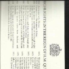 Sellos: GRENADA 25º AÑOS CORONACION QUEEN REINA ELIZABETH II CARNET DE LUJO CON BLOQUES DE SELLOS . Lote 55121652