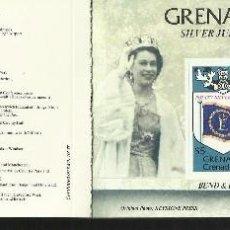Sellos: GRENADINES 25º AÑOS CORONACION QUEEN REINA ELIZABETH II CARNET DE LUJO CON BLOQUES DE SELLOS . Lote 55121674
