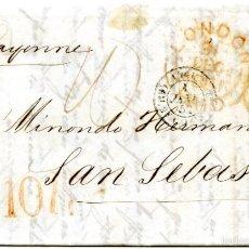 Sellos: 2 CARTAS DE LONDRES A SAN SEBASTIÁN, 1847 Y 1852. Lote 55144147