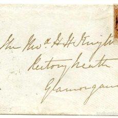 Sellos: CARTA DE OXFORD A GLAMORGANSHIRE (INGLATERRA), 1842, 1P ROJO. Lote 55144423