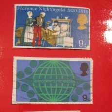 Sellos: SELLO FLORENCE NIGHTINGALE + TELECOMUNICATIONS + PRINCE OF WALES 1969. Lote 56382058