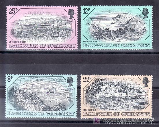 GUERNESEY 1982 IVERT 243/6 *** GRABADOS ANTIGUOS DE GUERNESEY (Sellos - Extranjero - Europa - Gran Bretaña)
