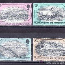 Sellos: GUERNESEY 1982 IVERT 243/6 *** GRABADOS ANTIGUOS DE GUERNESEY. Lote 57454054