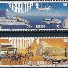 Sellos: GIBRALTAR 1988 IVERT 555/8 *** EUROPA - TRANSPORTES Y COMUNICACIONES. Lote 57649709