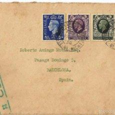 Sellos: GRAN BRETAÑA. 1938 CARTA DIRIGIDA A ESPAÑA. Lote 57853728