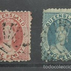 Sellos: QUEENSLAND COLONIA INGLESA Nº 4 Y 6 DE 1860 MAS DE 500 € DE CATALOGO. Lote 58610131