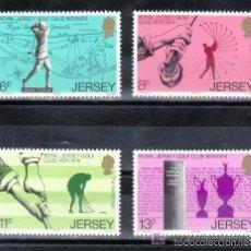 Sellos: JERSEY 1978 IVERT 167/70 *** CENTENARIO DEL REAL CLUB DE GOLF DE JERSEY - DEPORTES. Lote 64742211