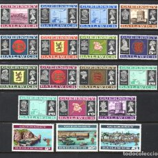 Sellos: GUERNSEY 1/18** - AÑO 1969 - PAISAJES. Lote 61446947