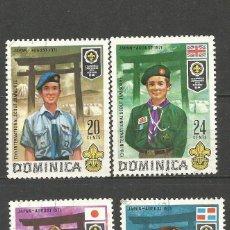 Timbres: DOMINICA COLONIA BRITANICA YVERT NUM. 319/322 SERIE COMPLETA USADA. Lote 62512732