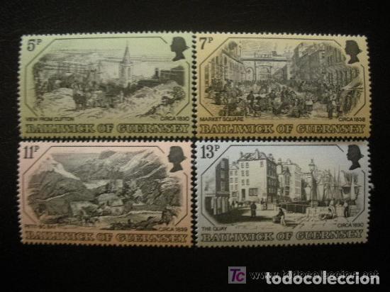 GUERNESEY 1978 IVERT 152/5 *** GRABADOS ANTIGUOS DE GUERNESEY (I) - PAISAJES (Sellos - Extranjero - Europa - Gran Bretaña)
