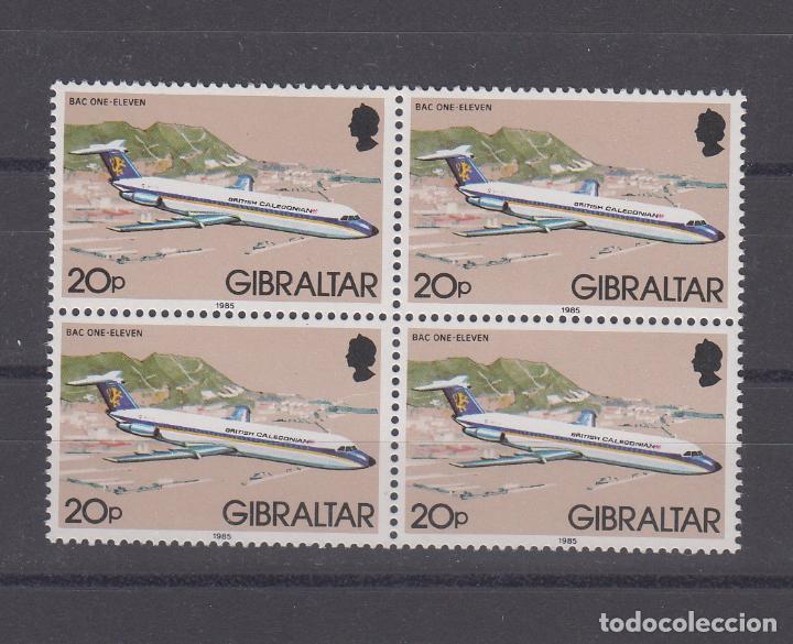 GIBRALTAR 505 B4 SIN CHARNELA, AVION, REIMPRESION AÑO 1985 (Sellos - Extranjero - Europa - Gran Bretaña)