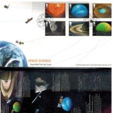 Sellos: SOBRE 1ER DIA DE GRAN BRETAÑA CIENCIA Y ESPACIO 2012. Lote 66808382