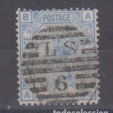 Sellos: GRAN BRETAÑA 57 USADA, PLANCHA 19, REINA VICTORIA. Lote 69601157