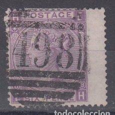 Sellos: GRAN BRETAÑA 34 PLANCHA 8 USADA, REINA VICTORIA. Lote 69602677