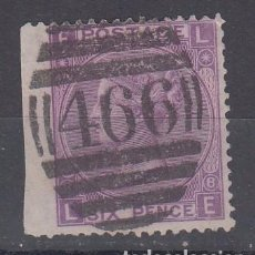 Sellos: GRAN BRETAÑA 34 PLANCHA 8 USADA, REINA VICTORIA. Lote 69602717