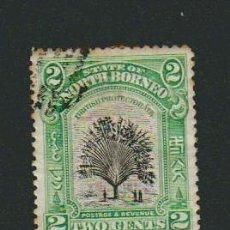 Sellos: STATE OF NORTH BORNEO ( COLONIA BRITÁNICA ).2 CENTS.1909-1911.. Lote 74980059