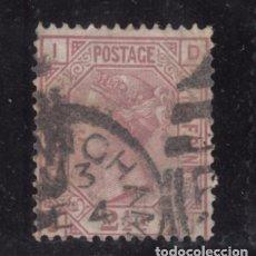 Sellos: GRAN BRETAÑA 55 PLANCHA 3 USADA, VICTORIA. Lote 77105321