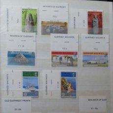 Sellos: SELLOS DE GUERNSEY CON BORDES DE HOJA PERFECTOS. Lote 81248056